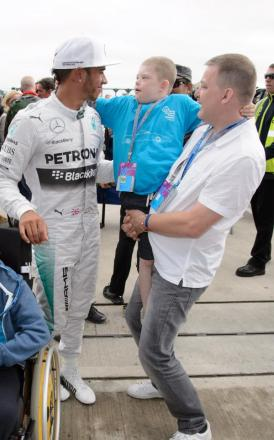 Our special Formula 1 day out with star Lewis