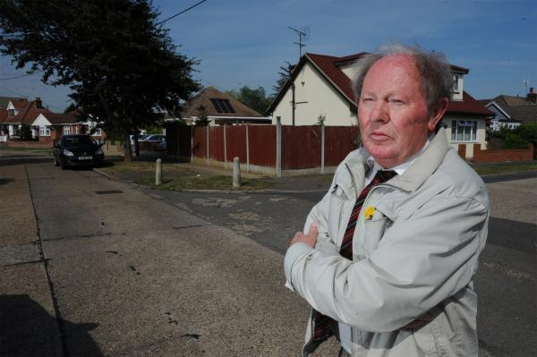 Ray Howard near where the bomb dropped in Deepwater Road, Canvey