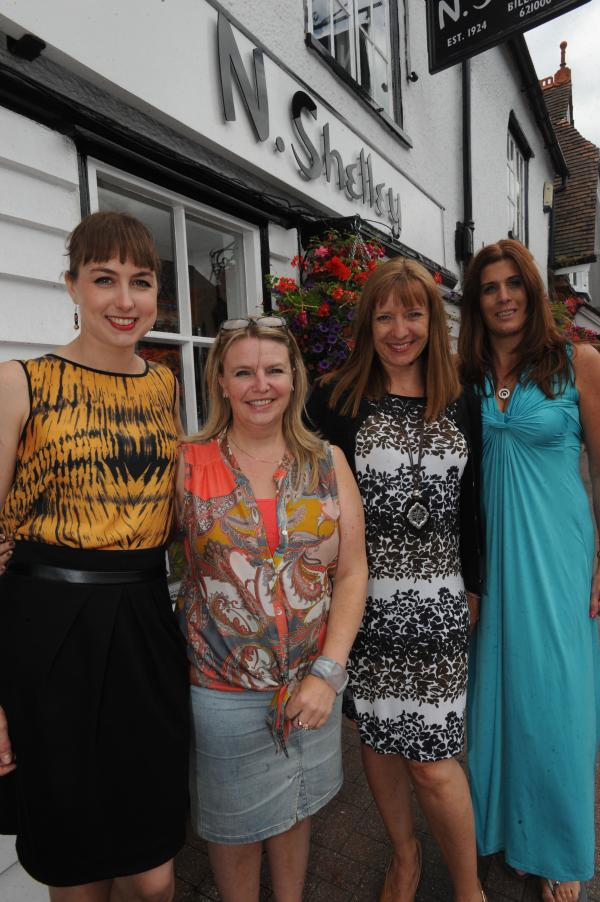 Shortlisted – Megan Jones, Joanne Robertson, Sarah Millet and Joanne Tuohy outside N Shelley