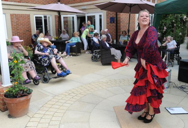 Care home residents given a taste of Flamenco