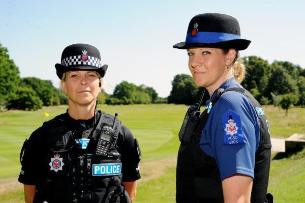 On patrol – PC Deborah Martin and PCSO Elain Hayter