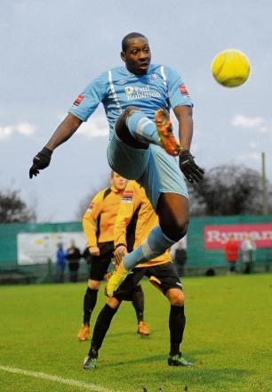 Ricky Sappleton in action for Town