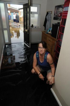 Wrecked – Tracy Fisher's home in San Remo, Canvey has been flooded again