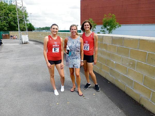 Southend sprinters Sophie Rickner and Shereen Raouf meet Sally Gunnell