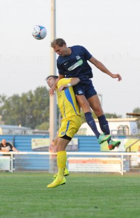Mads Ibenfeldt  in action for Blues at Concord Rangers
