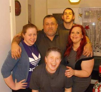 Family man – Christopher Taylor with daughters Nicolle and Ashley and sons Billy and Steven