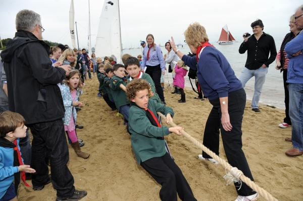4/6th Leigh Cub Scouts compete in the tug of war in last year's Regatta