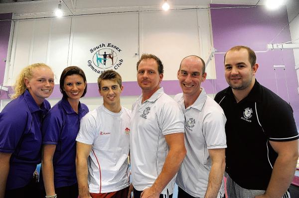 South Essex Gym Club members Becca Bunce, Tania Bonchi, Max Whitlock, Scott Hann, Dave Massam and Dave Rapley who have all been part of the Commonwealth Games