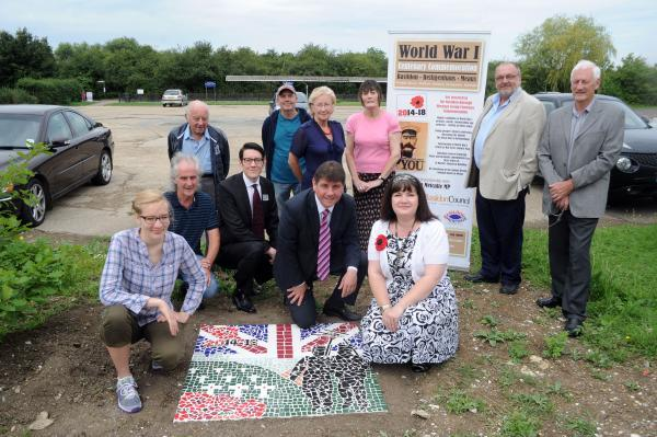 Celebrating – MP Stephen Metcalfe and heritage groups officials are delighted at news of the grant