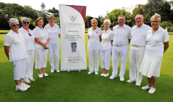 Final countdown – finalists, from left, Jenny Kirby, Pam Thompson, Brenda Bowyer, Dee Huggins, Jill Lieberman, Jan Adams, John Adams, Pat Taylor, and Terry Hughes before the finals got underway