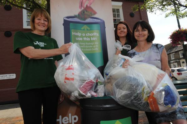 Litter ladies: Street scene manager, Lesley Athey, recycling officer Jade Austin, and Susan Phillips, from Rayleigh and Rochford Association of Voluntary Services, with bags of rubbish
