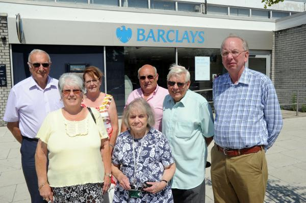 Angry – Jackie Govier and other councillors want Barclays to reconsider branch closure