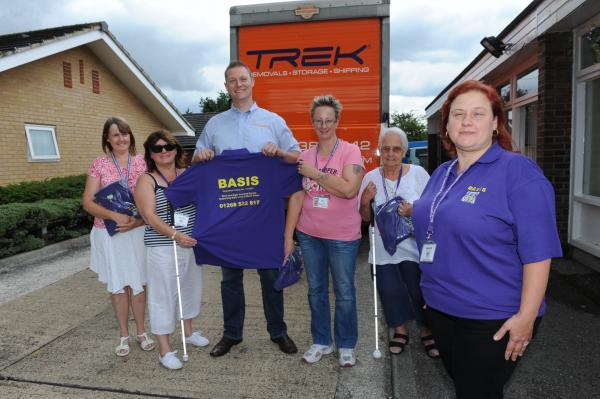 Thank you – Kim Barden, Evelyn Griffiths, Paul Mitchell operations manager at Trek removals, Cara Ivatt, Karen Rice and Mary Craig