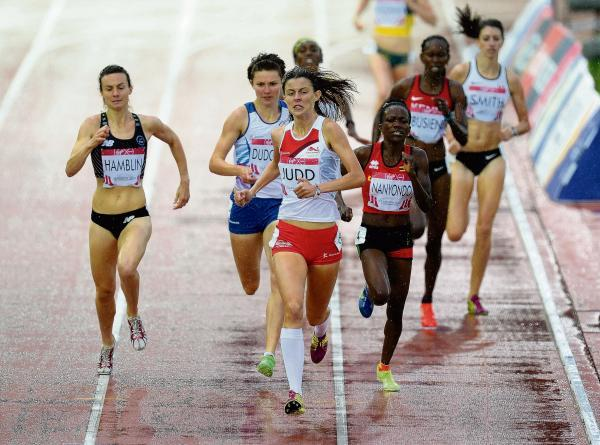Jess Judd in 800m action at the Commonwealth Games
