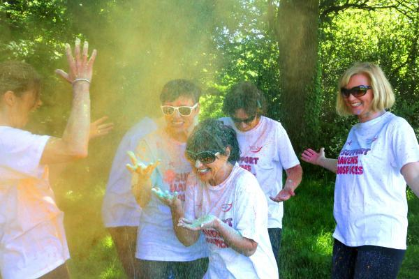 Bright idea – runners will be pelted with coloured powder during Havens Hospices Colour Chase in the grounds of Little Havens, in Thundersley
