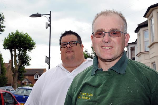 Feeling safer – Keith Kesley, from Residents' Association Watch, and John Cooper are pleased with the new CCTV camera, and inset, the underpass which has attracted drug dealers