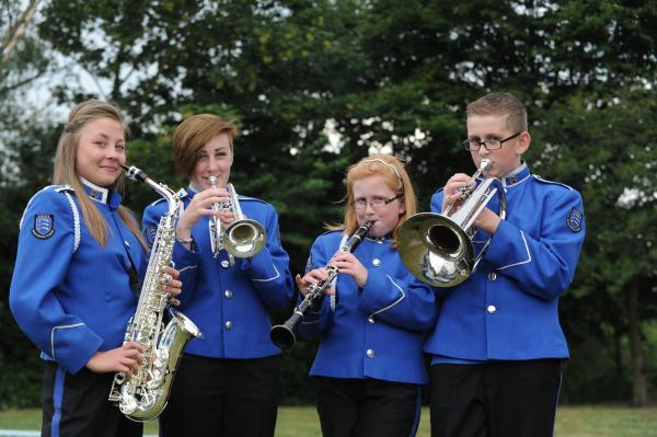 New home – young members of the Essex Marching Corps outside the old Scout hut