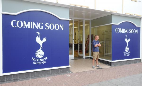 Controversial - the new Tottenham Hotspur shop opening in Southend