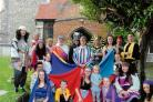 On song – the cast of Joseph, who perform in Halstead this weekend. The show sold out at Sudbury last month