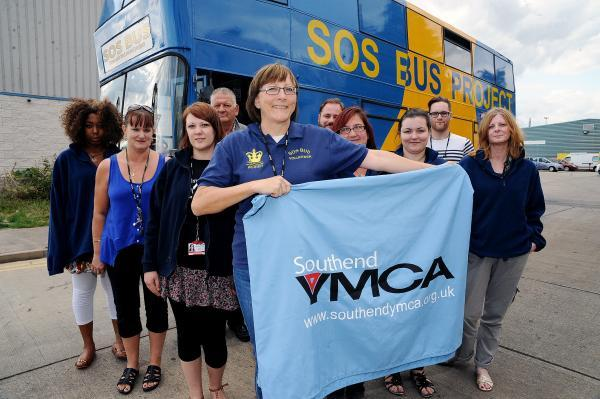 Volunteers with the SOS Bus