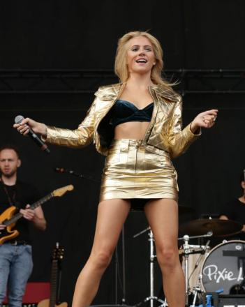 Pixie Lott performing at V Festival earlier this month