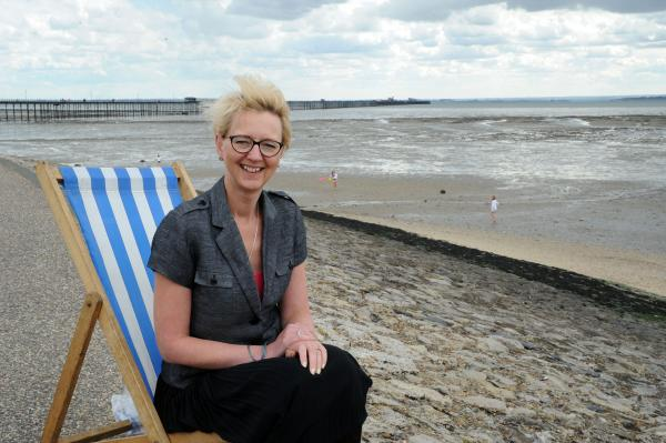 Southend BID chairman Dawn Jeakings at Three Shells Beach
