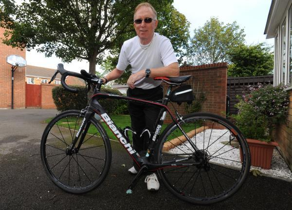 Richard Gill, who is cycling from Lands end to John O Groats