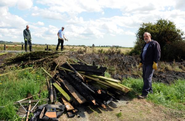 Vandals burn down RSPB reserve hide