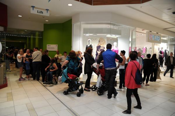 Eager shoppers queue for opening store