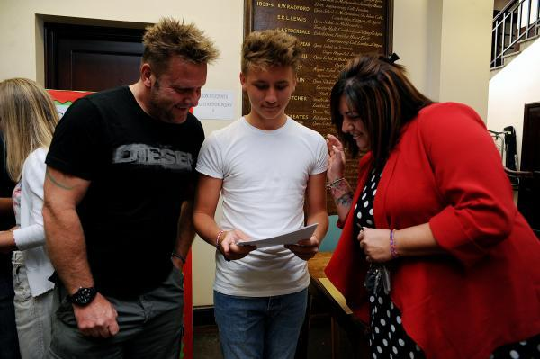 Well done – parents Phillip and Donna congratulate Cameron