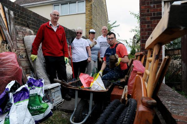 Clean-up team – Kevin Robinson, Sue Jones, Julie Farrow, Peter Zanch and David Webb