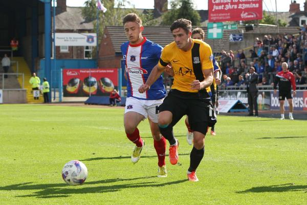 Ryan Leonard in action during Saturday's 1-1 draw at Carlisle United
