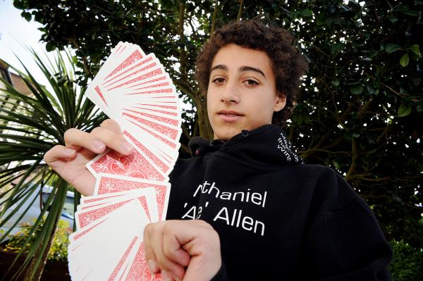 Southend student, Nathaniel, 15, is a magician in the making