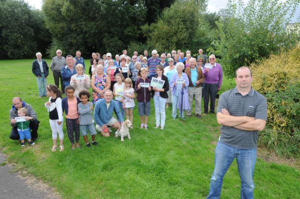 Angry - Stephen Mates and his neighbours on the land where Rochford District Council wants to build six homes