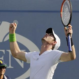 Andy Murray is happy with his form ahead of a US Open quarter-final against Novak Djokovic (A
