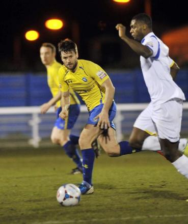 Nicky Cowley in action for Concord Rangers last season