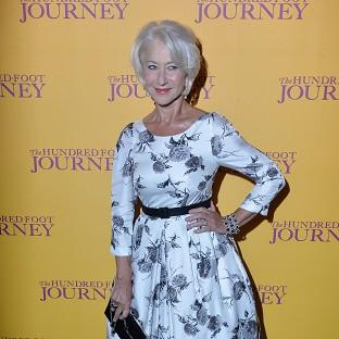 Dame Helen Mirren attends the gala screening of The Hundred Foot Journey at Curzon Mayfair, London.