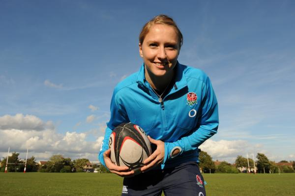 Making history - Emily Scott is one of the first 20 female rugby players to have been awarded a central contract by the RFU
