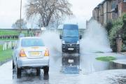 Causing waves – flooding in Furtherwick Road, Canvey