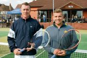 Men's singles – Craig George (left) beat Jack Vile in straight sets      PICS: DAVE LINCOLN