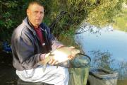 Dave Benjamin with one of the eight bream he caught