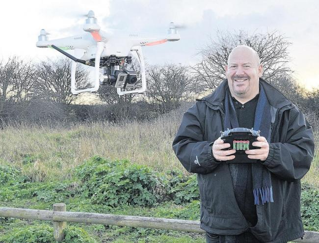 Warning – film-maker Dave Black flies his drone