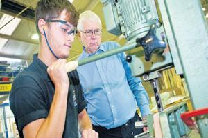 Bob the joiner! MP picks up tips from apprentice Luke