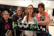 Dedicated - Lisa Sanders, Lauren Blake, Elisia Schooling, Sarah Titmuss and Sue Horner were first in line to meet Shane