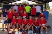 King John School's Year 10 and 11 boys football team in Texas