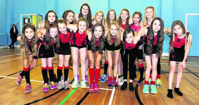 The King John School girls cross-country teams