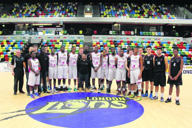 The Seevic team with the Hackney Community College team in the Copper Box