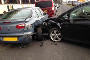 The crash caused substantial damage to both cars