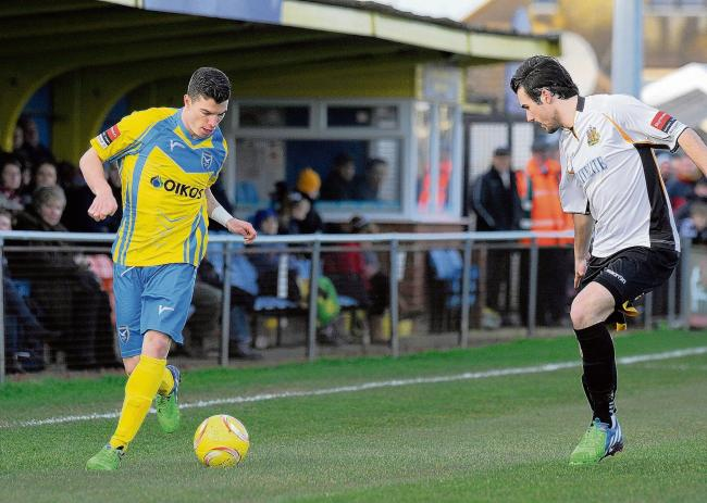 Canvey Island winger Jack Simmons - working in sport