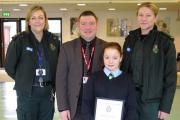 Ten-year-old Emma's bravery helped mum and brother after horror road accident